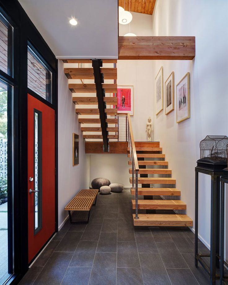 modern house interiors%0A Image   of    from gallery of Midvale Courtyard House   Bruns Architecture   Photograph by Tricia Shay