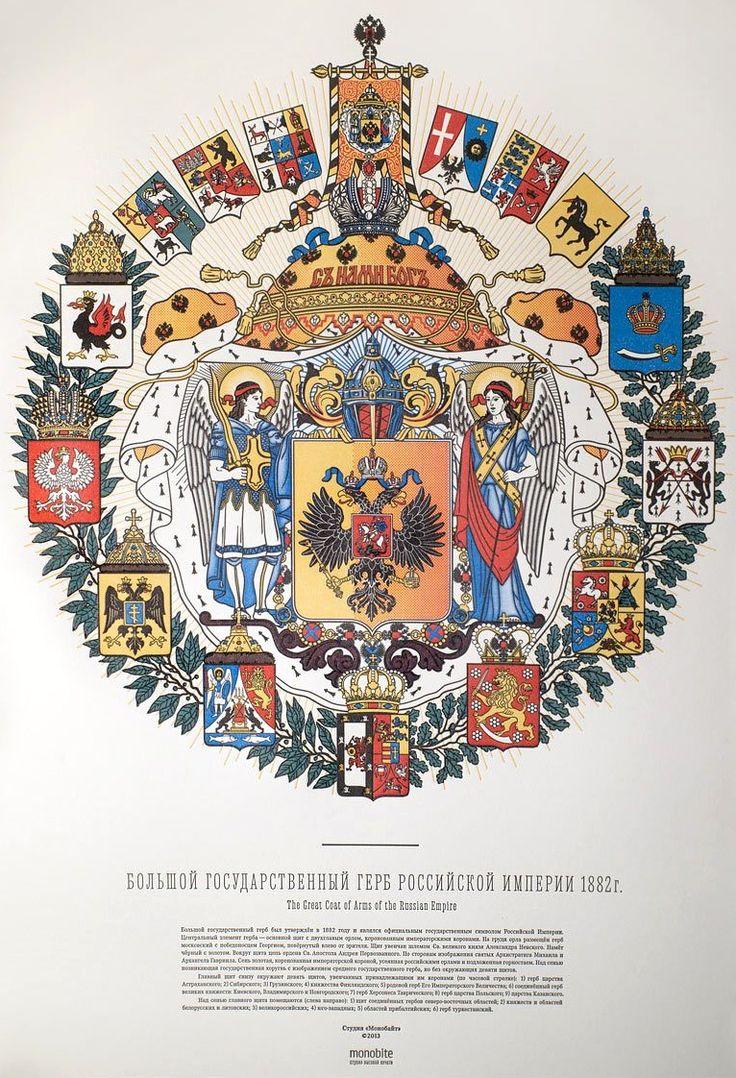Большой государственный герб Российской империи 1882 года, Плакат (The Great Coat of arms of the Russian Empire in 1882, poster).