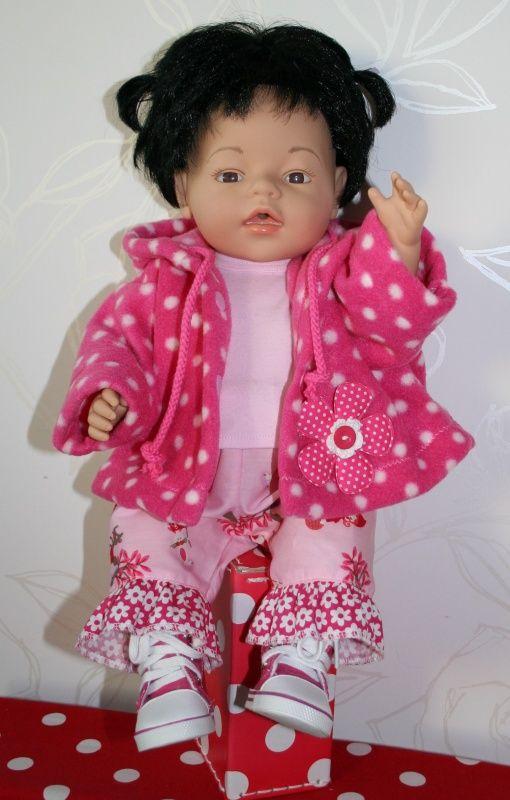 Roze... roze... roze! 3-delige set   *POPPENKLEDING* voor ca. 43cm (o.a. BabyBorn)   Astrids Atelier Poppenkleding
