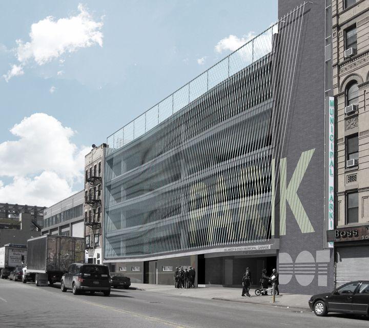 Delancey And Essex Municipal Parking Garage / Michielli + Wyetzner  Architects