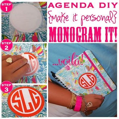 Too Much Is Never Enough: agenda DIY {make it personal}