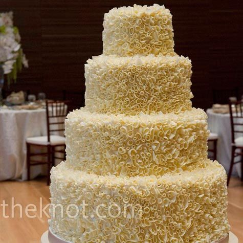 How To Wedding Cake With Chocolate Curls