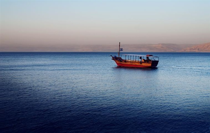 Sea of Galilee where Jesus walked on water