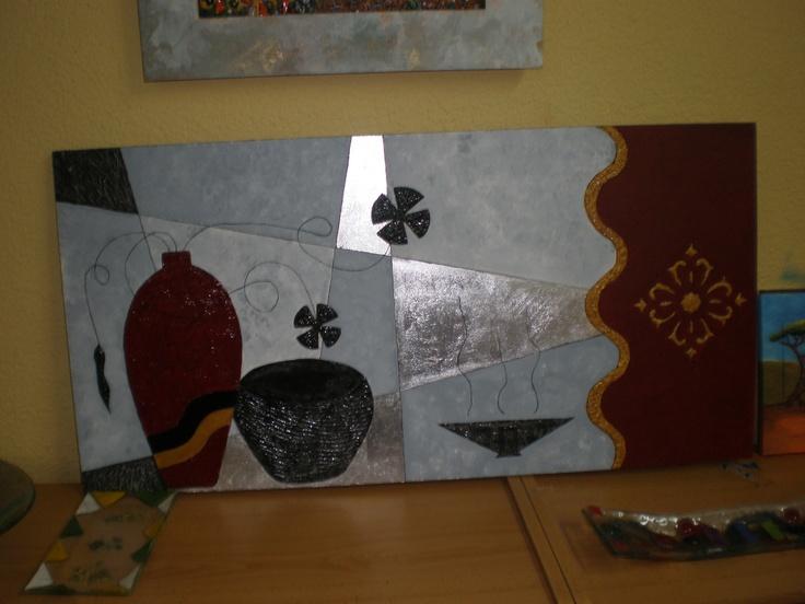 cuadro textura y pan plata