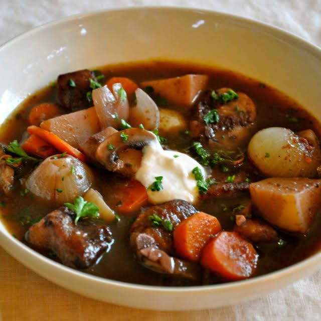 Ordinary Vegan Beef Stew With Red Wine And Root Vegetables Recipe Yummly Recipe Vegan Beef Beef Stew Root Vegetables Recipes
