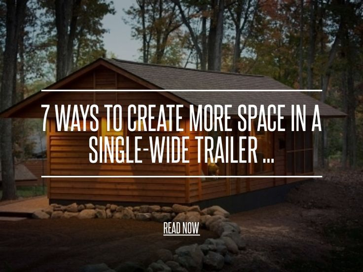 7. Stackable Washer & Dryer - 7 Ways to Create More Space in a Single-Wide Trailer ... → DIY