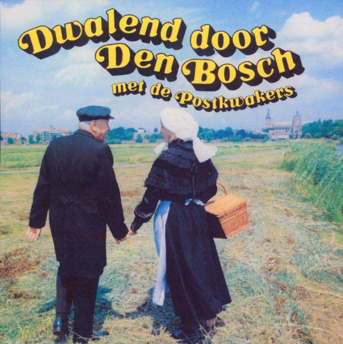 Grammofoonplaat. Dwalend door Den Bosch met de Postkwakers. Muziek, zang en gesproken woord. 1982 Stemra #NoordBrabant #DenBosch