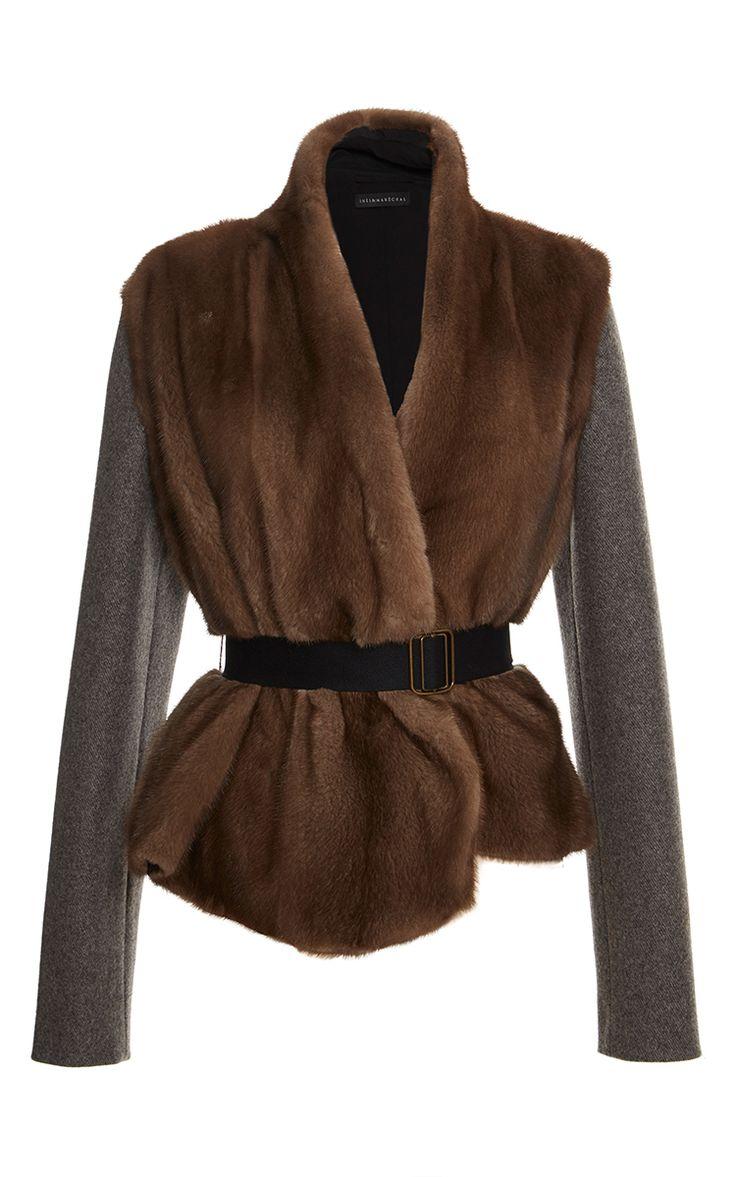 Belted Mink Jacket by Inès & Maréchal for Preorder on Moda Operandi