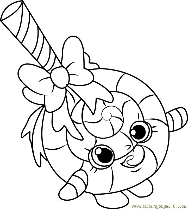 Lolli Poppins Shopkins Coloring Page Shopkins colouring