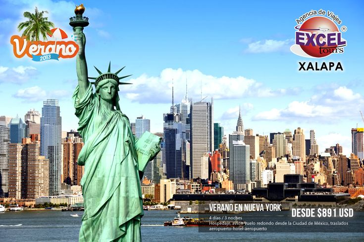 Este verano disfruta de ciudad más cosmopolita del mundo, Nueva York, tenemos diferentes paquetes vacacionales para que disfrutes de obras de teatro y espectáculos en Broadway, o simplemente disfrutar los atractivos de Manhattan, Central Park, Estatua de la libertad, etc.