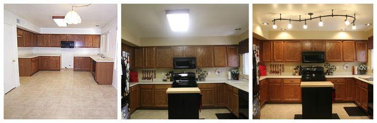 Fluorescent Kitchen Light Makeover