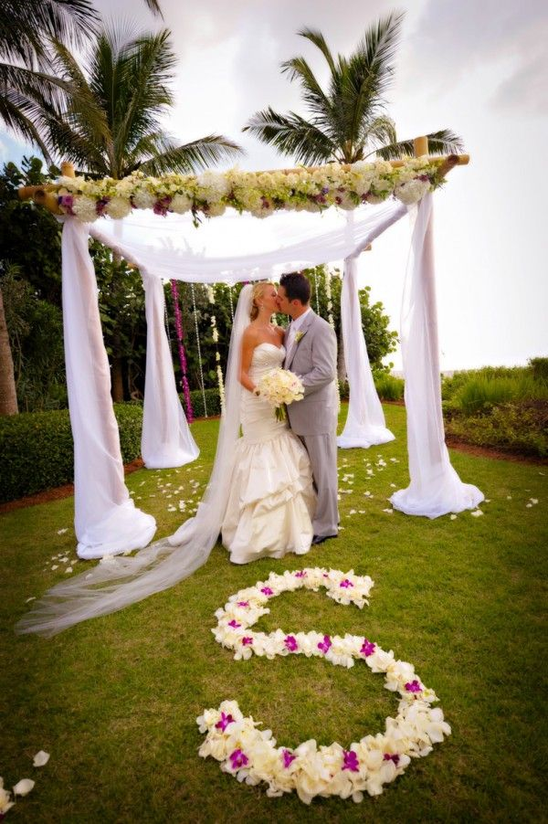 Gorgeous Beach Wedding Canopy Photo By Moreland Photography