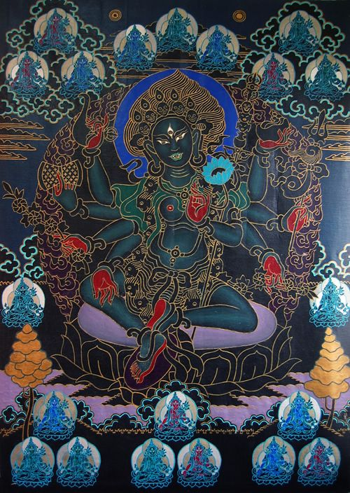 Black Tara by Jack Niland, 1971. Acrylic on canvas, 4x6 ft. -- click for article