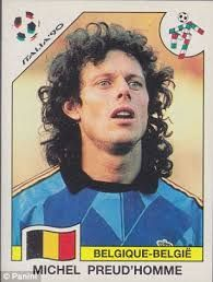 Image result for italia 90 panini BELGIUM PREUD