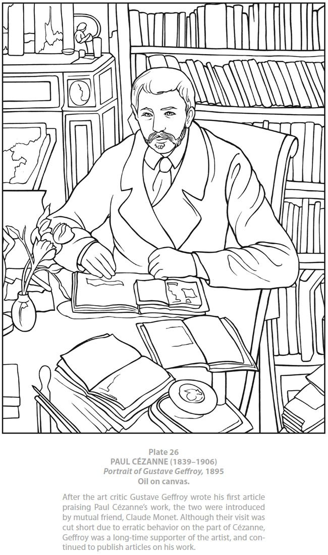 Color Your Own Cezanne Paintings: Dover Publications Samples