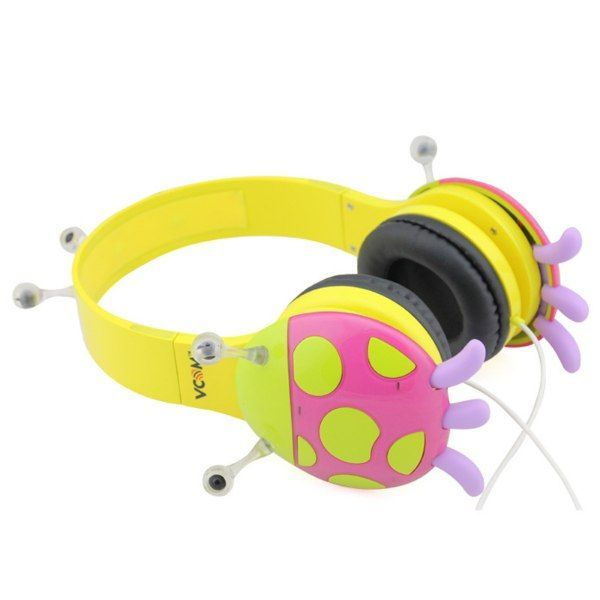 Vcom Çocuk Kulaklık - Uğur Böceği Pembe Sarı
