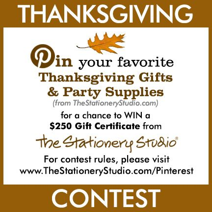 The Stationery Studio Thanksgiving Contest
