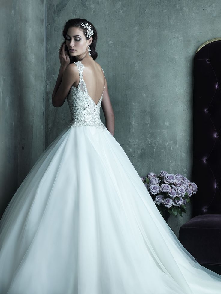 Allure Bridals : Couture Collection : Style C290 : Available colours : White/Silver, Ivory/Silver (back)