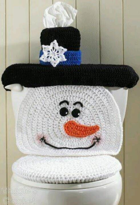 snowman toilet bowl / seat cover