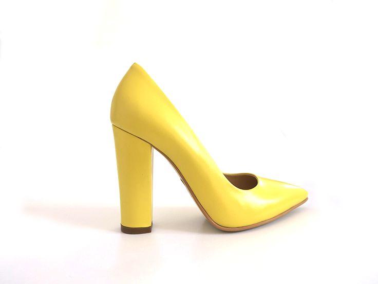 Pantofi Stiletto  Yellow Playful (Lunar Collection)
