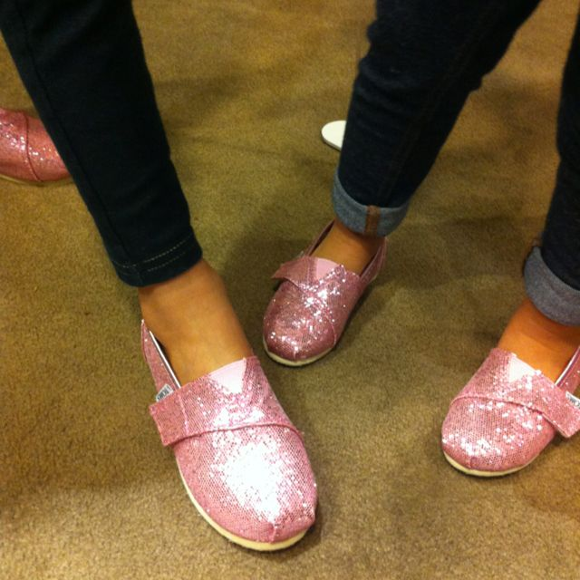 Matching pink Toms for me and the girls? I think yes!