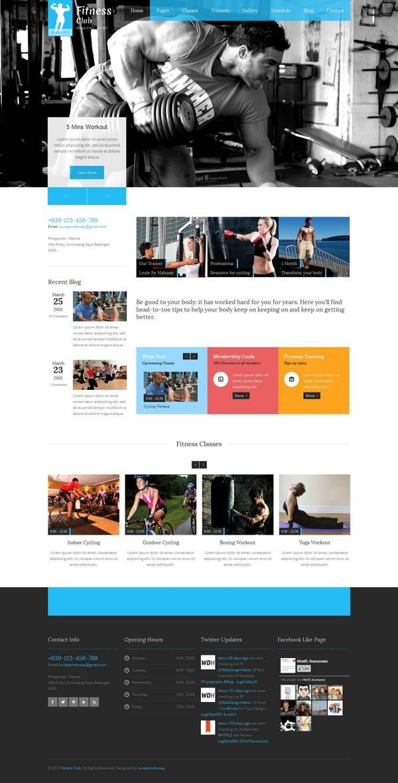 Fitness Club - Responsive Gym Fitness Template by Zizaza - design ocean , via Behance #web #website #webdesign