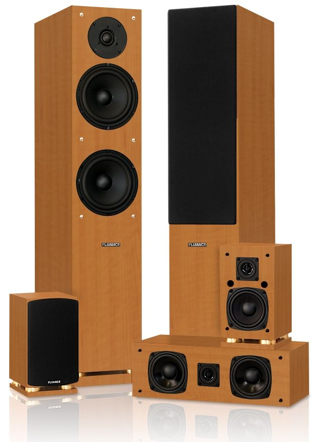 Fluance SX Series Surround Sound Home Theater Speaker System With Powered  Subwoofer