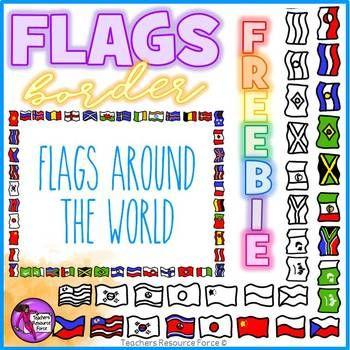 Flag Border Clipart Doodle Style