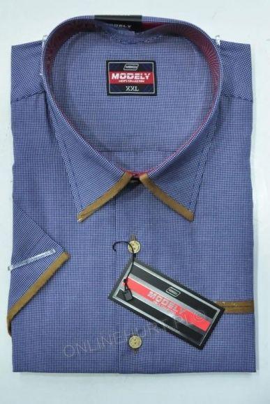 Koszula Męska Modely DH3A-M-CT  Kr. Rękaw (S-2XL)