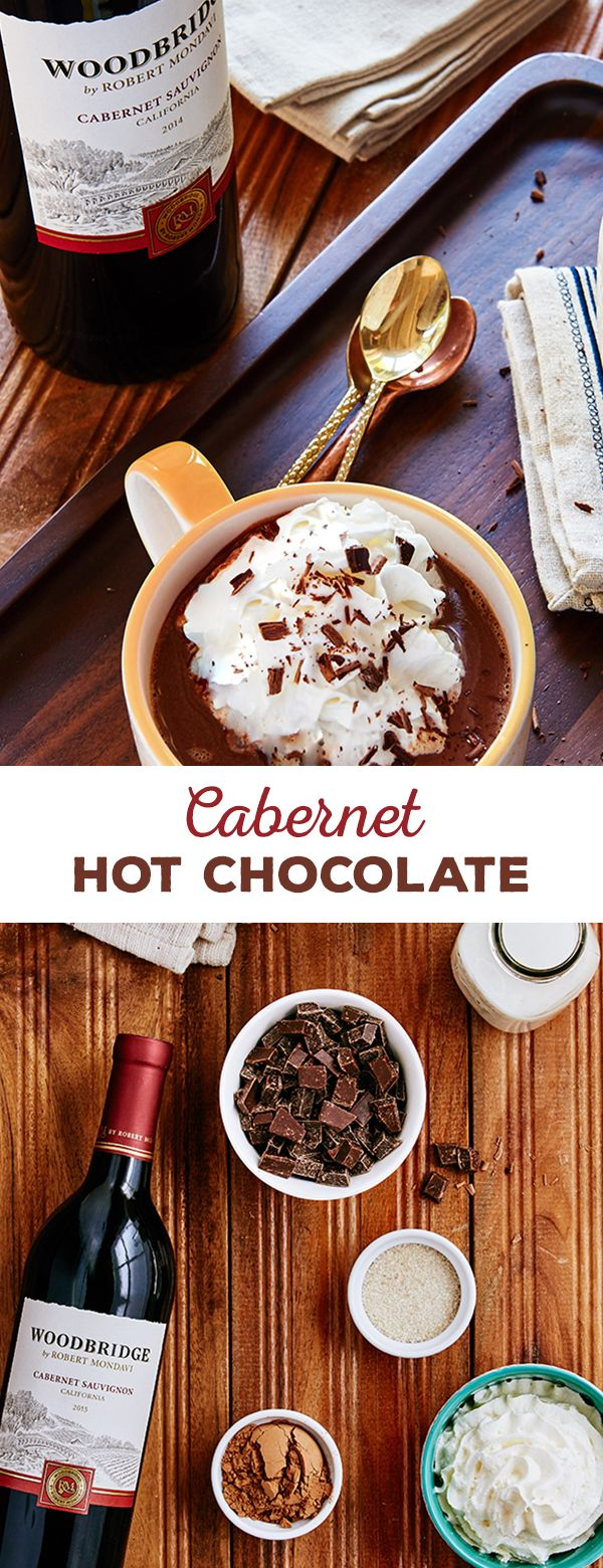 Warm up your winter with this Cabernet Hot Chocolate recipe from Woodbridge Wines. This delicious, chocolatey beverage is equal parts sweet, savory and oh-so rich. Learn how to make this recipe using Woodbridge by Robert Mondavi Cabernet Sauvignon today.  Please enjoy our wines responsibly.  � 2016 Woodridge Wines, Acampo, CA