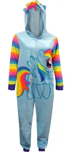 My Little Pony Rainbow Dash Fleece Hooded One Piece Pajama