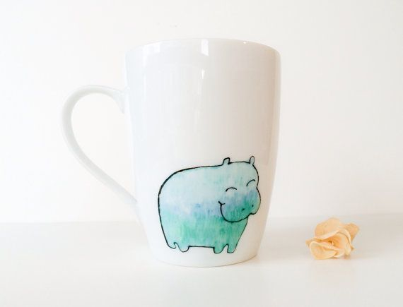 Hey, I found this really awesome Etsy listing at https://www.etsy.com/listing/179985411/swamp-hippo-personalized-name-mug