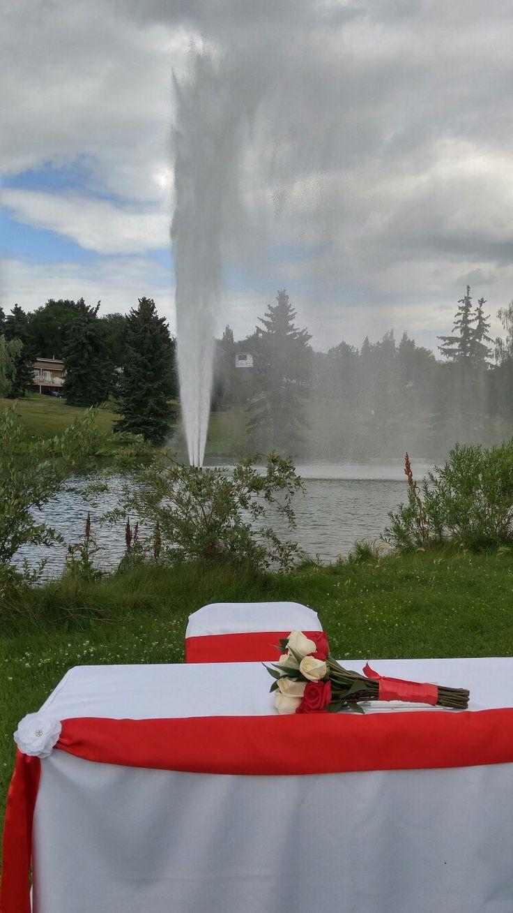 #outdoorwedding #elope #redwedding #simpleweddingdecor #redweddingdecor