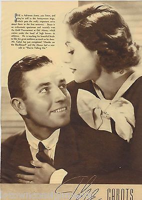 JOHN BOLLES BRUCE CABOT ADRIENNE AMES MOVIE ACTOR VINTAGE PROMO PHOTO PRINT 1935