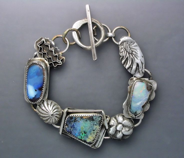 Three Opals and Flowers Bracelet by Temi Kucinski.