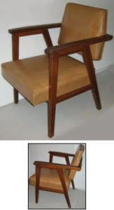 Mid Century Wood & Vinyl Lounge Chair - City of Toronto Furniture For Sale - Kijiji City of Toronto Canada.