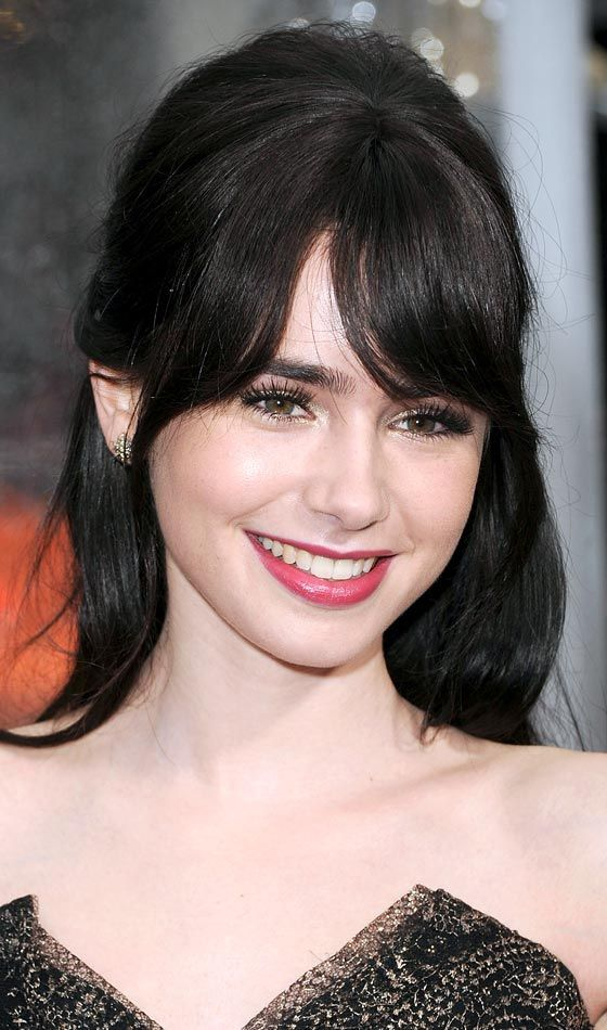 Slight Bangs  http://www.stylecraze.com/articles/10-stylish-hairstyles-for-long-thin-hair/