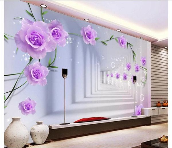 Custom 3d Photo Wall Murals Wallpaper Rose 3d Stereo Tv Background Wallpaper For Walls 3d Wall Papers Home Decor From R18258991096 8 48 Dhgate Com Kids Room Wallpaper Wall Murals Painted Wall Murals