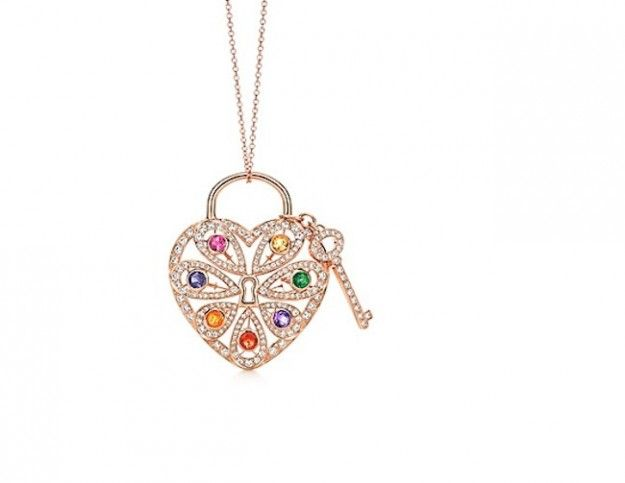 Collana Tiffany Pendente con chiave Tiffany Filigree Hear