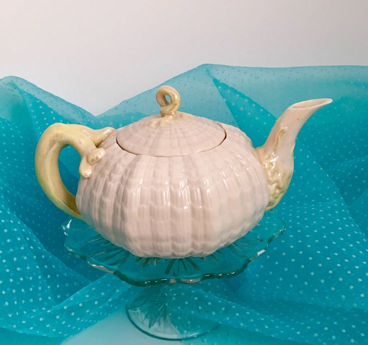Vintage Teapot, Belleek China, Tea Server, Tea for Two, Ireland, Gift from Ireland, Irish Wedding Gift by VintageTeacupShop on Etsy https://www.etsy.com/listing/274000892/vintage-teapot-belleek-china-tea-server