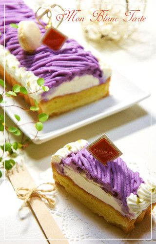 ⁂Purple Sweet Potato Mont Blanc Tart⁂