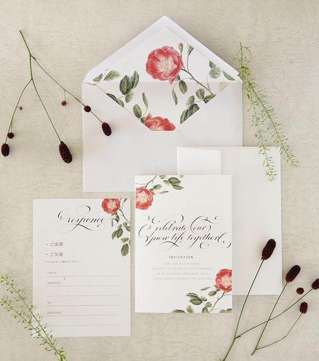 結婚式招待状・薔薇アンジェラ(10枚セット)