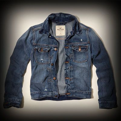 ホリスター メンズ ジャケット  Hollister Dockweiler Beach Denim Jacket デニムジャケット ★シンプルなデザインで色んな着回しがしやすいデニムジャケット。 ★ヴィンテージウォッシュなダメージ感が惹かれるポイント!