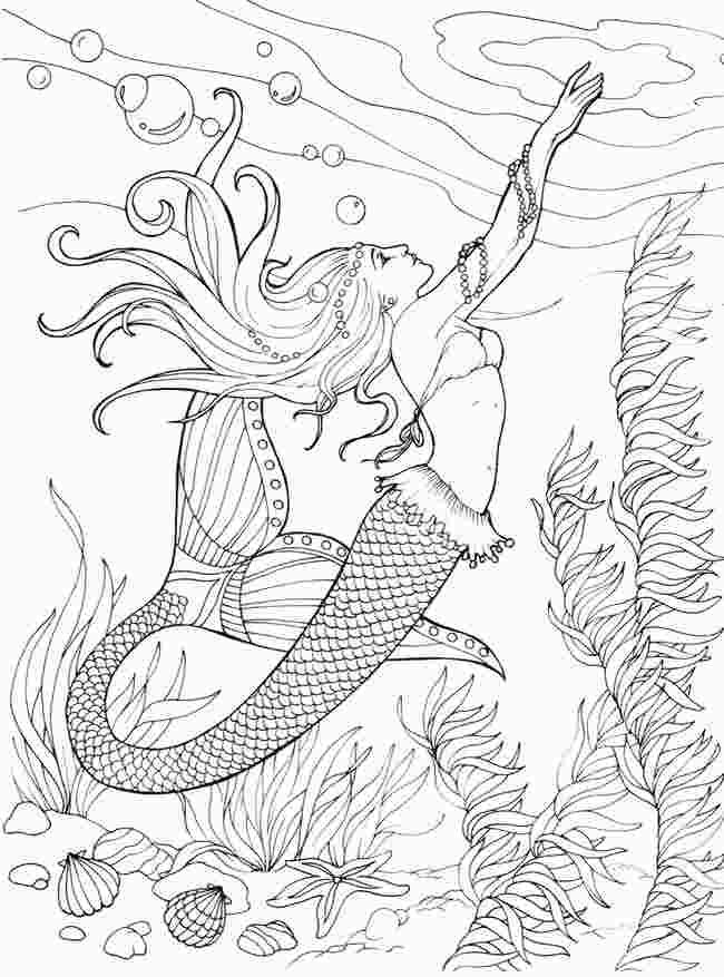 Realistic Beautiful Mermaid Mermaid Coloring Pages In 2020 Mermaid Coloring Book Mermaid Coloring Mermaid Coloring Pages