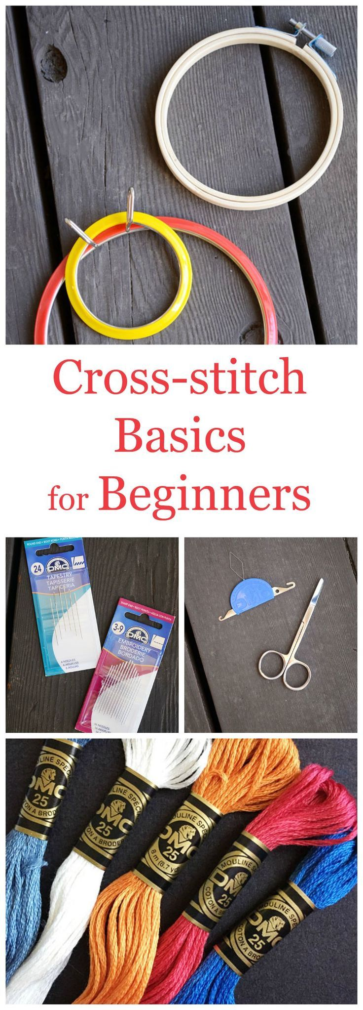 Tutorial: Easily learn how to cross-stitch with these simple basics for beginners.   Storypiece.net