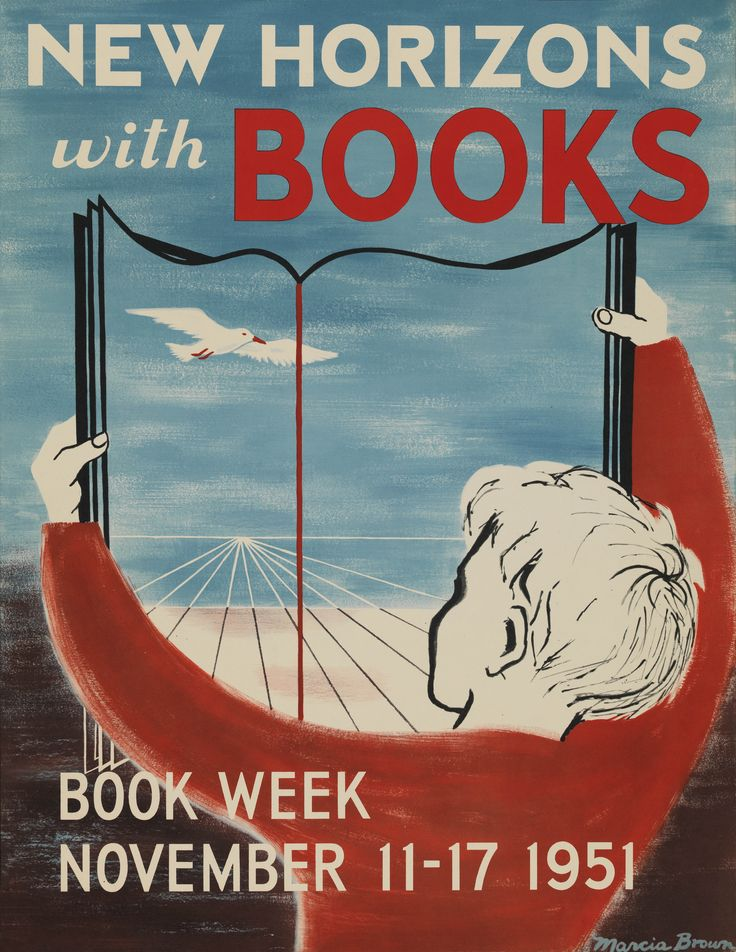 Official Children's Book Week poster, 1951, Marcia Brown (1918-2015)