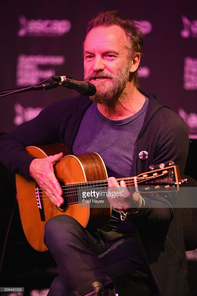 Sting Musician 2016 | Sting performs at the ASCAP Music Cafe during the 2016 Sundance Film ...