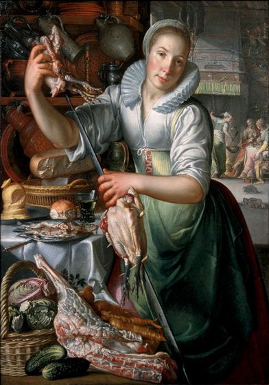 Joachim Wtewael, The Kitchen Maid, c. 1620–1625, oil on canvas, Collection Centraal Museum Utrecht, Purchase with support from the Vereniging Rembrandt, 1999. © Centraal Museum Utrecht / Ernst Moritz