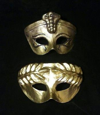 Egytian-Queen-and-Caesar-masks