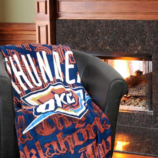Oklahoma City Thunder 46u0027u0027 X 60u0027u0027 Redux Micro Raschel Throw Blanket